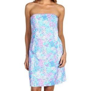 Lilly Pulitzer Franco Dot Dot Hop Strapless Dress